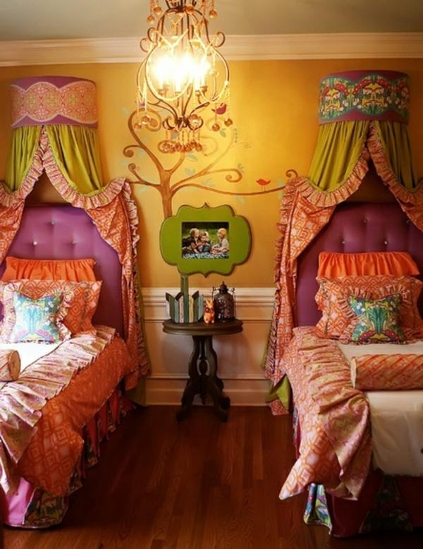 Kinderzimmer ideen für zwei  Kinderzimmer gestalten - Tolles Kinderzimmer für zwei Mädchen