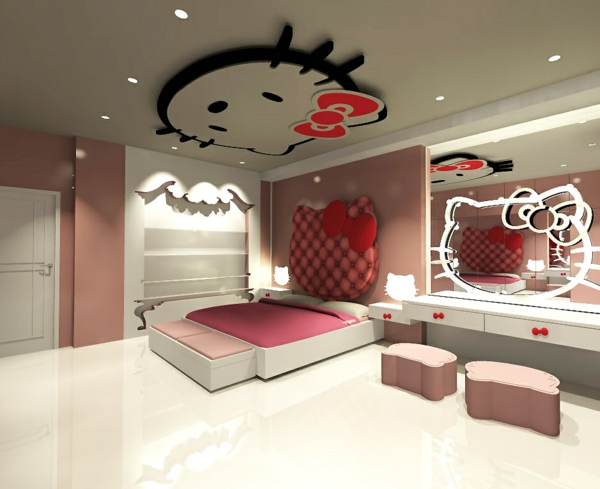 innendesign ideen f r die hello kitty fans. Black Bedroom Furniture Sets. Home Design Ideas