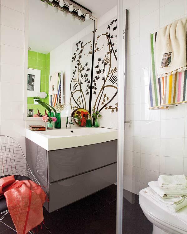 kleine wohnung einrichten badezimmer komplett