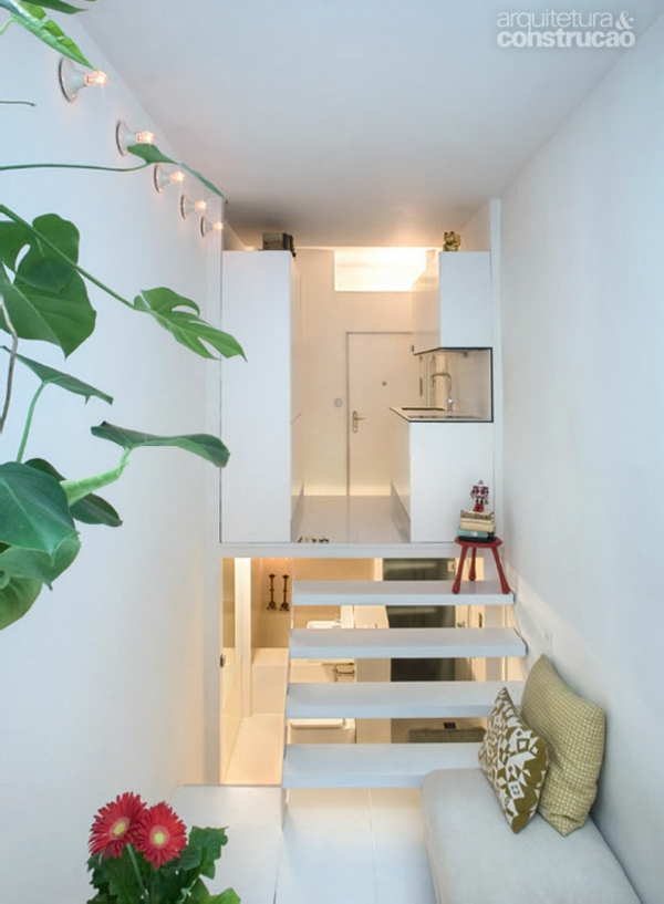 kleine wohnung einrichten vertikale einrichtungsideen kleine küche offener wohnbereich