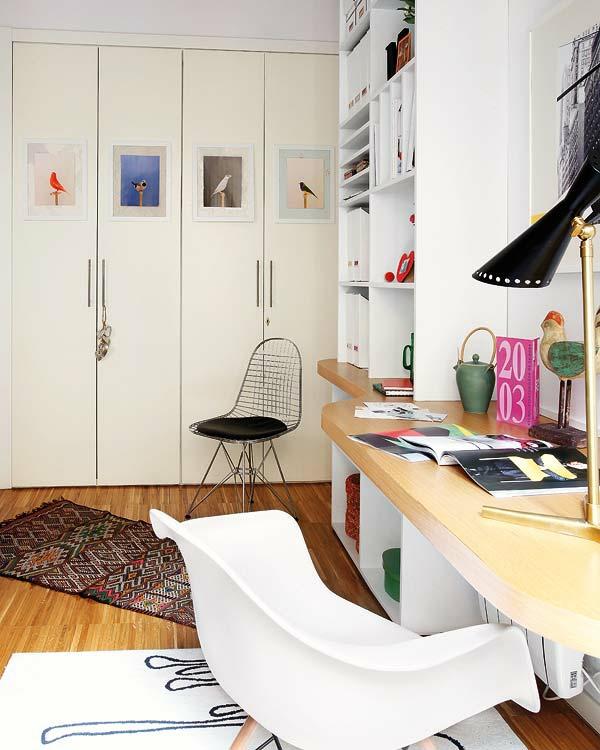 kleine wohnung einrichten vertikale wohnideen arbeitzplatz schreibtisch kompakt