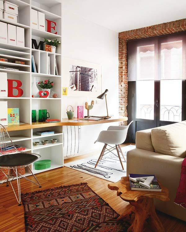 Kleine wohnung einrichten die raumh he benutzen und platz sparen - Designer arbeitstisch tolle idee platz sparen ...
