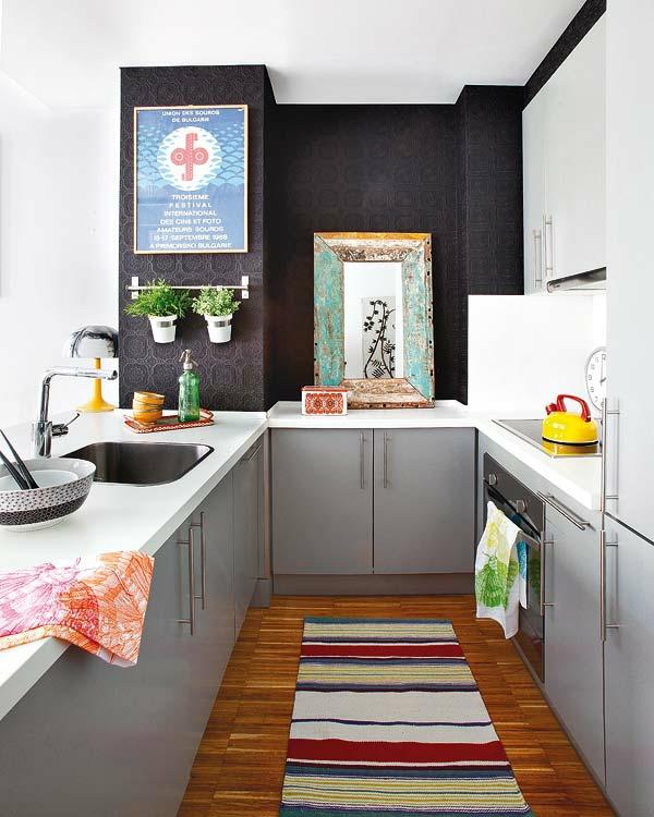 Kleine Wohnung Kleine Küche Einrichten Innendesign Ideen