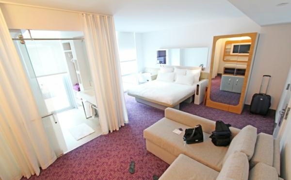 kleinflächige hotelzimmer einrichtung