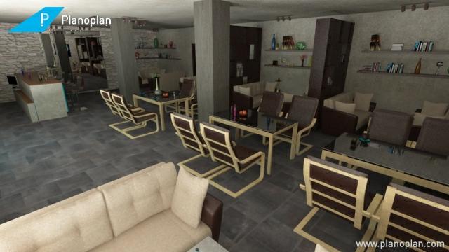 kostenloser raumplaner 3d planoplan cafe bar gestalten