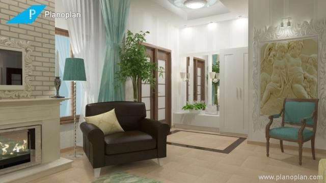 Kostenloser Raumplaner Planoplan 3d Visualisierung Wohnzimmer Wandgestaltung
