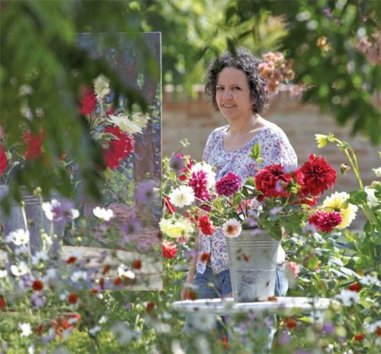 kreative gartenideen garten und landschaftsbau gartenblumen malen lebhafte farben