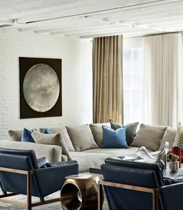 loft apartment wandgestaltung dachfenster beige