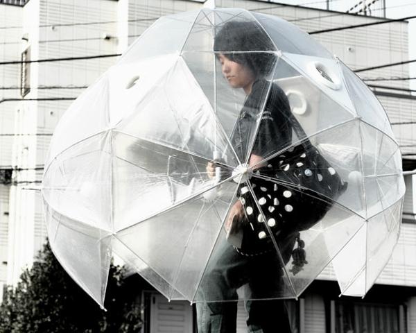 lustige regenschirme durchsichtig