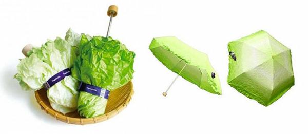 lustige regenschirme gesund essen gemüse