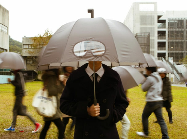 lustige unter wasser regenschirme grau brille