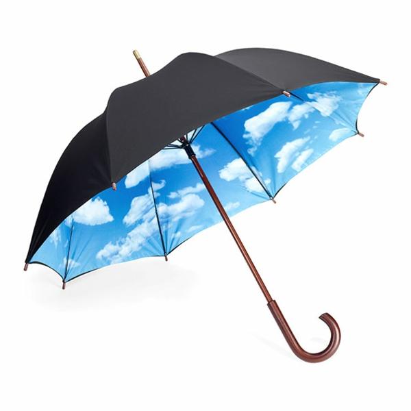 lustige klar regenschirme himmel
