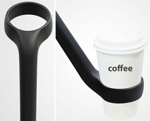 lustige regenschirme kaffe halter