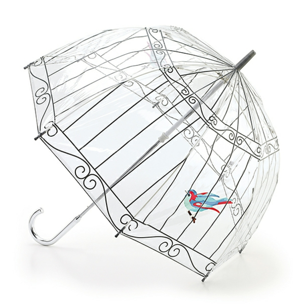 lustige regenschirme vogel käfig