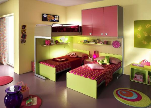 mädchenzimmer design grüne interieur akzente