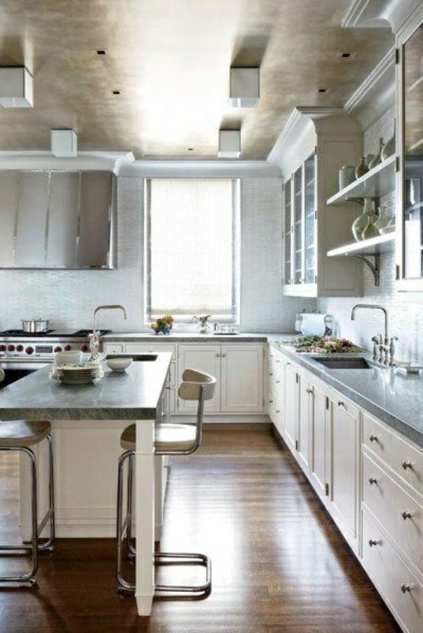 metallic decke in der küche