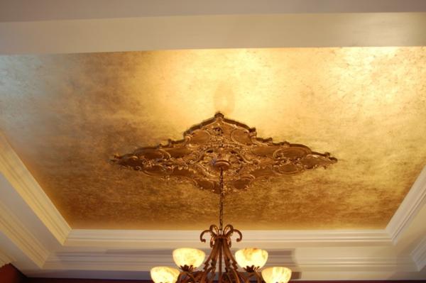 metallic decke moderne interieur lösung