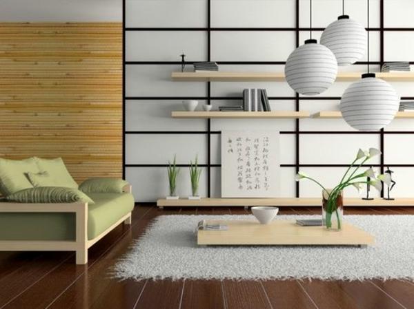 Minimalistisches Wohnzimmer Im Japanischen Stil