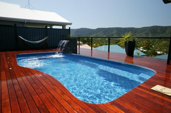 moderne wohnideen schwimmbad im freien