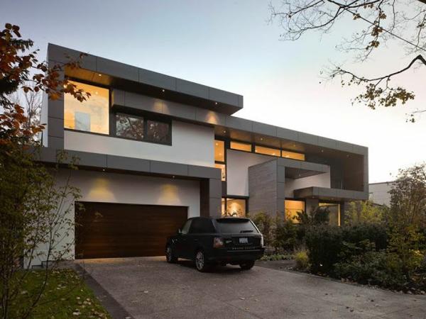 moderne architektur schöne fassade