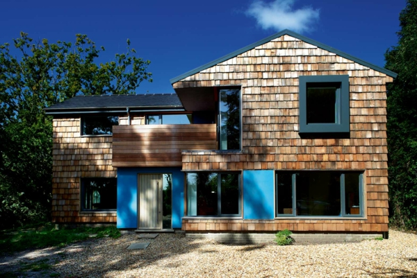 Moderne fassadenverkleidung aus holz  Moderne Fassadenverkleidung für einen eindrucksvollen Hauscharakter