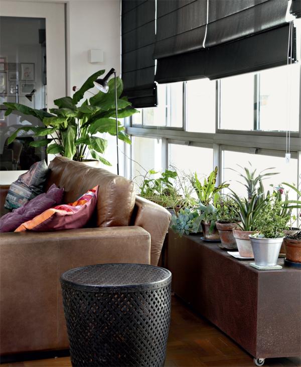 moderne terrassengestaltung stadtwohnung topfpflanzen verglasste terrasse gestalten