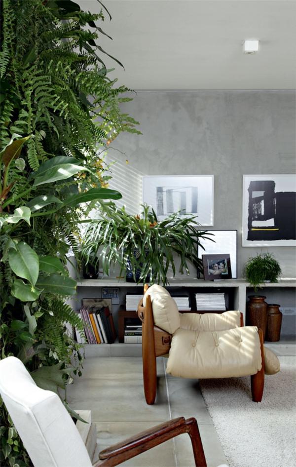 moderne terrassengestaltung verglasste terrasse gestalten vertikaler garten zimmerpflanzen