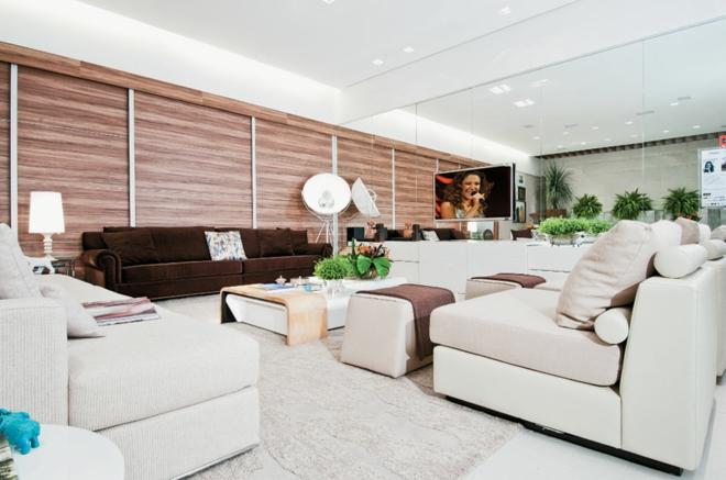 moderne wohnwand 8 inspirierende beispiele zum nachmachen. Black Bedroom Furniture Sets. Home Design Ideas