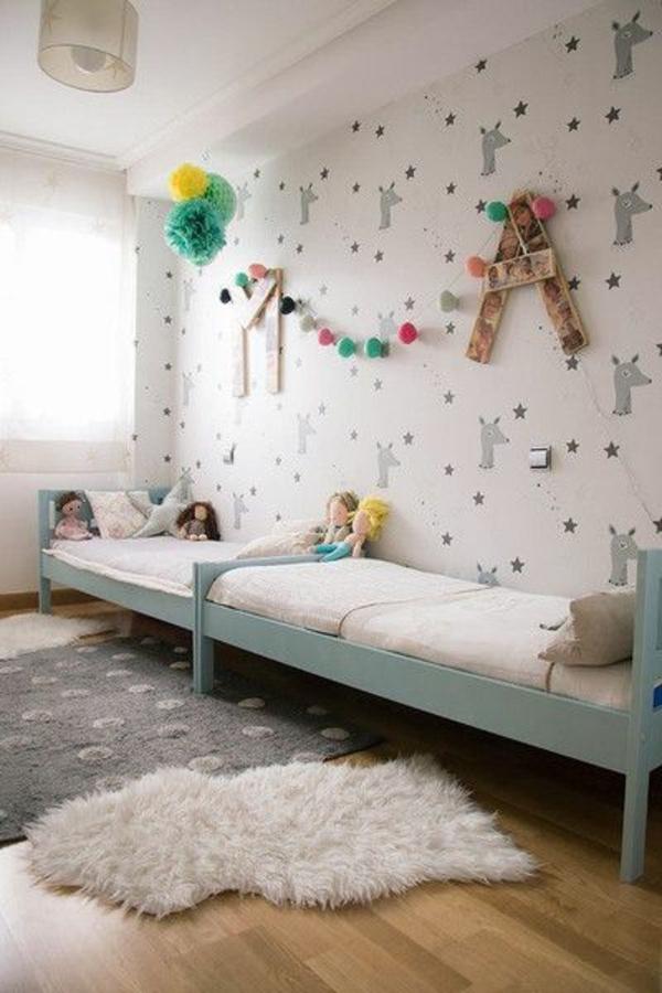 kinderzimmer gestalten - tolles kinderzimmer für zwei mädchen, Schlafzimmer design