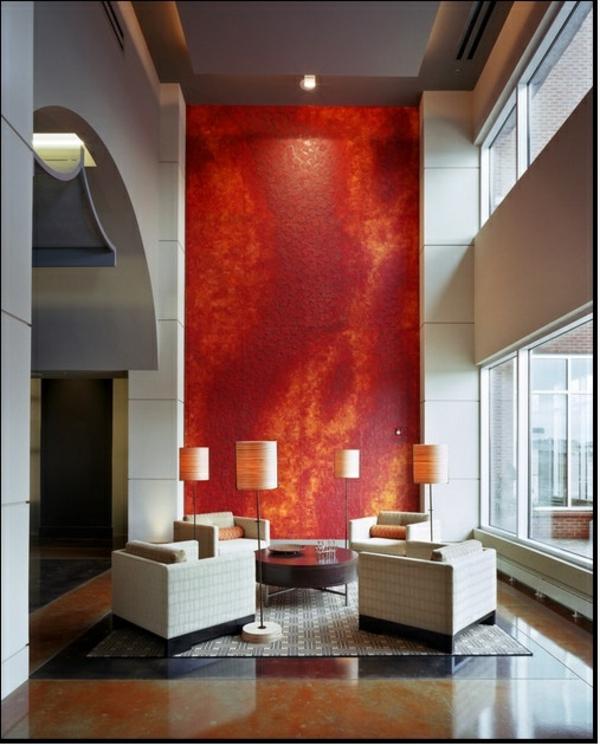 rot wohnzimmer:tapete wohnzimmer rot : florale tapeten design rot weià wohnzimmer