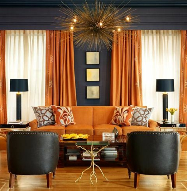 orange schwarz eingerichtet