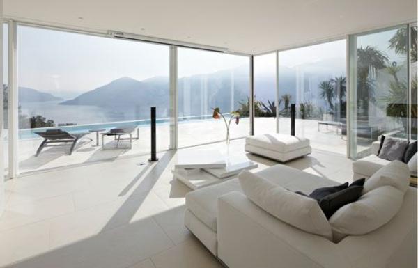 panorama fenster moderne einrichtungsideen