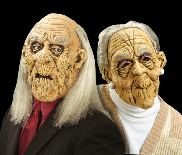 party ideen halloween kostüme halloween masken oma opa
