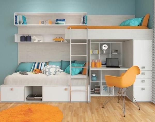 kinderzimmer einrichtung mit effektiven methoden zum raumsparen. Black Bedroom Furniture Sets. Home Design Ideas