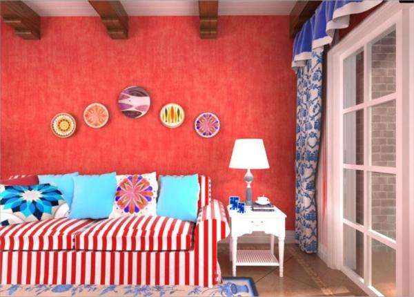 tapete wohnzimmer rot:Tapete wohnzimmer rot : Rote Tapeten für königliche Räumlichkeiten