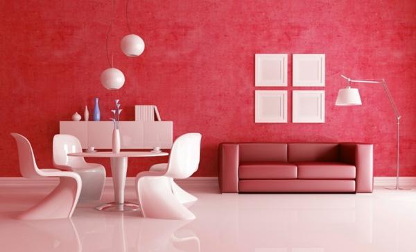 rot weißes ambiente