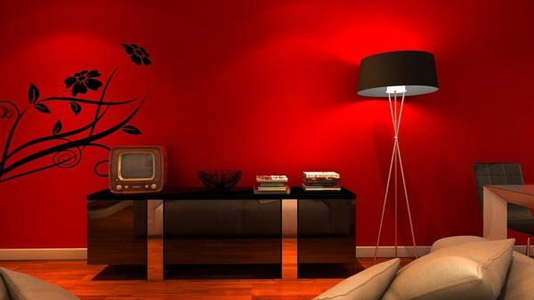 Rote Tapeten für königlichen Räumlichkeiten in Ihr Zuhause