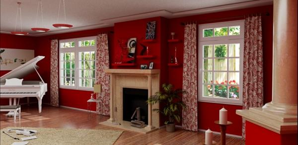 rote tapeten für die wände