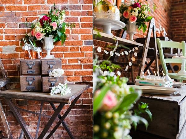 Rustikal deko  Tischdeko Ideen im rustikalen Stil - ein Dessert Buffet arrangieren