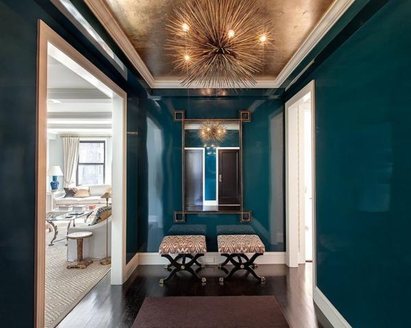 schöne wohnzimmer decken:Schöne wohnzimmer decken : Schönes Ambiente mit Metallic Decke