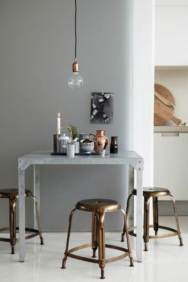 Wohnideen Esstisch innendesign ideen der einsatz bronze im interieur