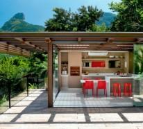 Schöne Wohnideen – Luxusküche im Innenhof