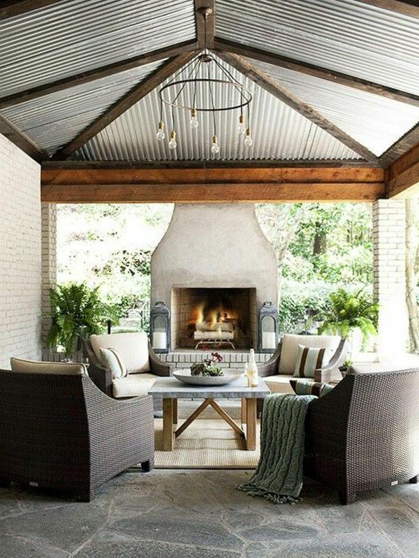 schöne wohnzimmer decken:Schöne Wohnideen -Metallic Decken für Ihr Zuhause