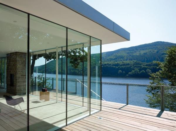 schönes anblick durch glasfassaden