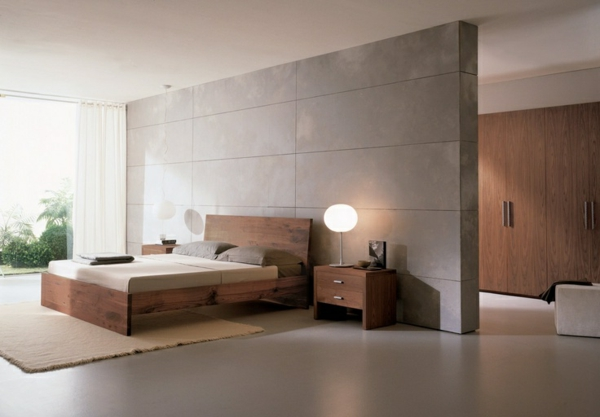 schlafzimmer einrichten bett nachtstisch
