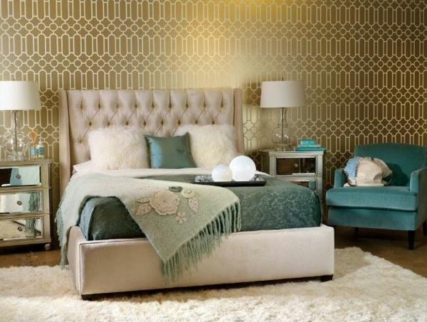 goldene tapeten strahlen wärme aus und sorgen für magische momente - Tapete Schwarz Weis Schlafzimmer