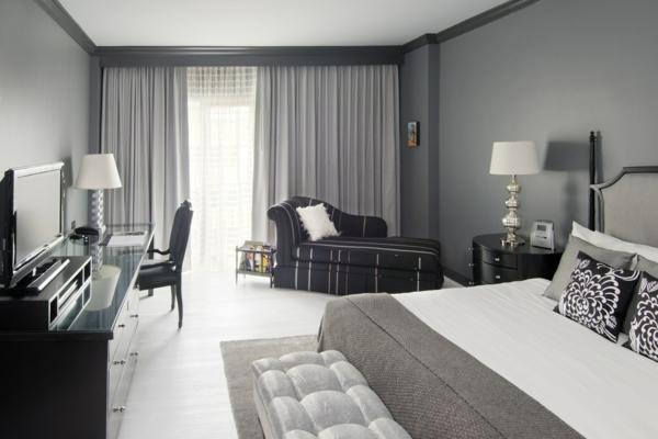 schlafzimmer wandfarbe auswählen und ein modernes ambiente gestalten - Wandfarbe Grau Beige