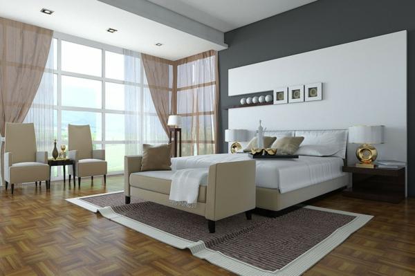 schlafzimmer wandfarbe neutrale farben grau weiß beige