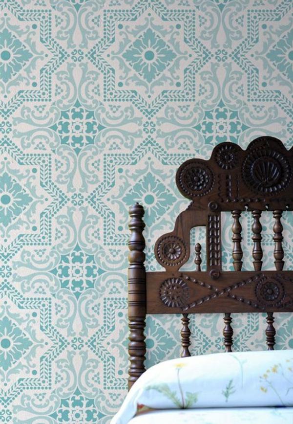 Blaue tapete der perfekte hintegrund in jedem raum for Tapetenmuster schlafzimmer