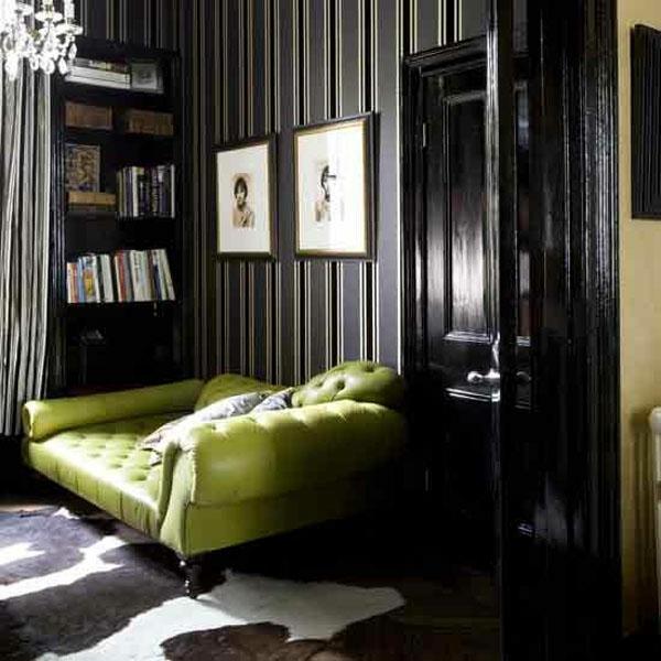 schwarze tapete schafft eine k nstlerische wohnlandschaft in ihrem haus. Black Bedroom Furniture Sets. Home Design Ideas